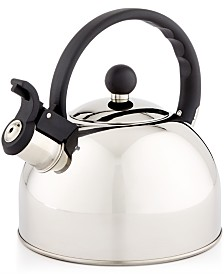 Martha Stewart Essentials 1.5-Qt. Stainless Steel Tea Kettle, Created for Macy's