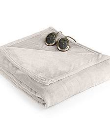 Slumber Rest Velvet Plush Heated King Blanket by Sunbeam