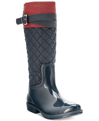 Tommy Hilfiger Girls' or Little Girls' Jessie Rain Boots - Shoes ...