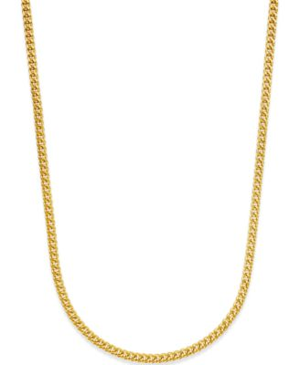 Franco Chain Necklace in 14k Gold Jewelry Watches Macys