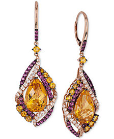 Le Vian Crazy Collection® Multi-Stone Drop Earrings (13-1/6 ct. t.w.) in 14k Rose Gold, Created for Macy's