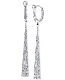 Geo by EFFY Diamond Drop Earrings (3/4 ct. t.w.) in 14k White Gold