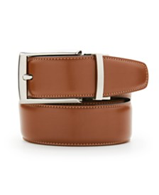Perry Ellis Portfolio Men's Amigo Tan Leather Reversible Belt
