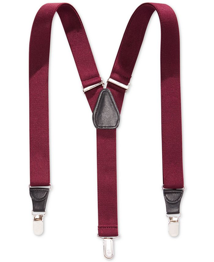 Club Room - 25mm Skinny Solid Suspenders, Only at Macy's