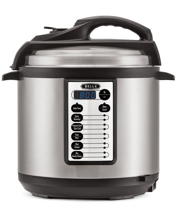 Bella 14467 6-Qt. Electric Pressure Cooker, Size: 6 QT