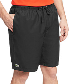"Lacoste Men's Diamante-Print 8"" Sport Drawstring Shorts"