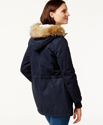 Levi's® Hooded Faux-Fur Sherpa-Lined Jacket - Coats - Women - Macy's