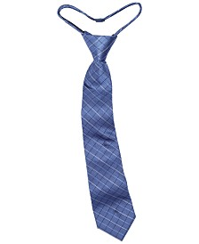 Calvin Klein Big Boys Etched Grid Zipper Necktie