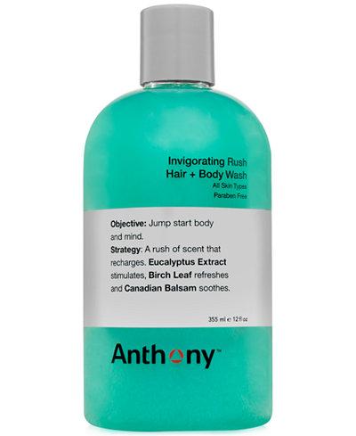 Anthony Men's Invigorating Rush Hair & Body Wash, 12 oz