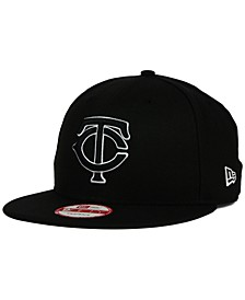 Minnesota Twins Black White 9FIFTY Snapback Cap