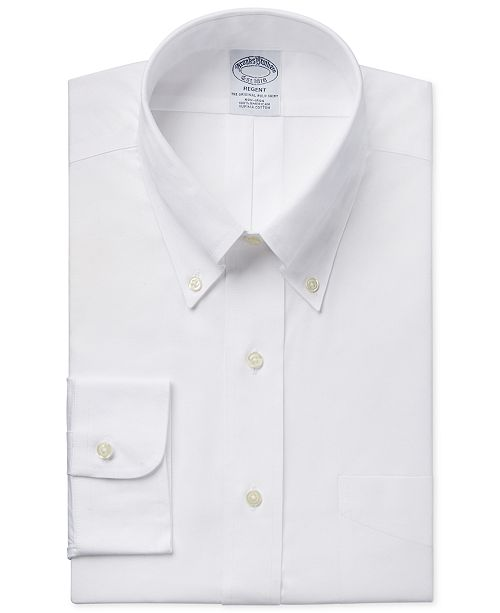 678ea6df938 Brooks Brothers Regent Slim-Fit Non-Iron Pinpoint Solid Dress Shirt ...
