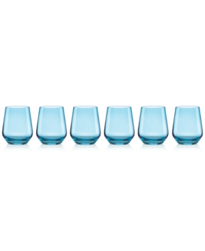 Closeout Lenox Tuscany Color Stemware Collection Set of 6 Stemless Wine Glasses
