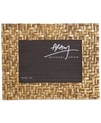 "Antique Gold-Tone 4"" x 6"" Palm Frame"