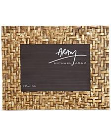 "Michael Aram Antique Gold-Tone 4"" x 6"" Palm Frame"