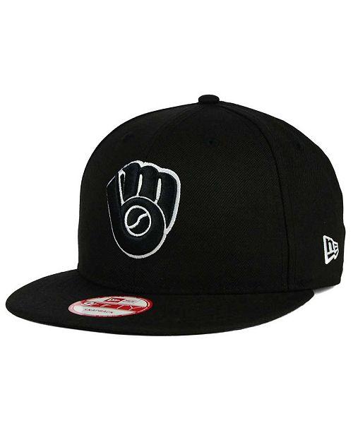 more photos 42406 9121f ... New Era Milwaukee Brewers B-Dub 9FIFTY Snapback Cap ...