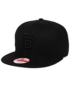 New Era San Francisco Giants Black on Black 9FIFTY Snapback Cap