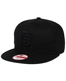 New Era San Francisco Giants Black on Black 9FIFTY Snapback Cap