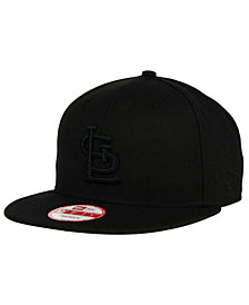 New Era St. Louis Cardinals Black on Black 9FIFTY Snapback Cap