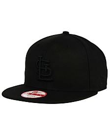 New Era St. Louis Cardinals Black on Black 9FIFTY Snapback Cap