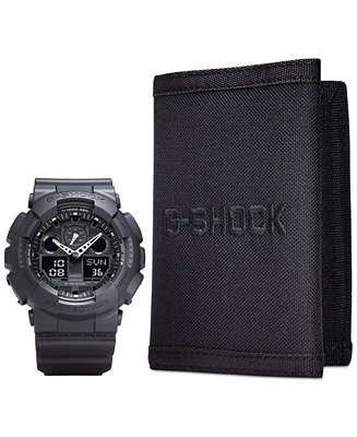 G-Shock Men's Analog Digital Black Resin Strap