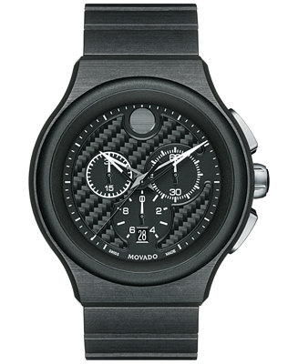 Movado Men's Swiss Chronograph Parlee Black PEEK