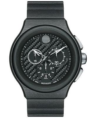 Movado Men's Swiss Chronograph Parlee Black PEEK
