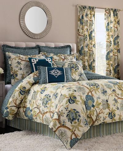 CLOSEOUT! Savannah Home Darjeeling Indigo Queen Comforter Set