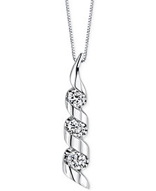 Sirena Diamond Swirled Pendant Necklace (1/2 ct. t.w.) in 14k Yellow or White Gold