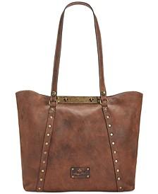 Distressed Leather Vintage Benvenuto Tote