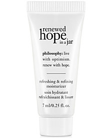 Receive a FREE Deluxe renewed hope gift with any $35 philosophy purchase