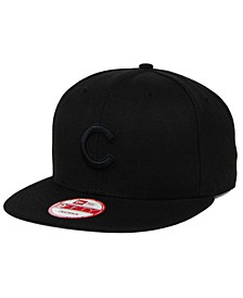 Chicago Cubs Black on Black 9FIFTY Snapback Cap