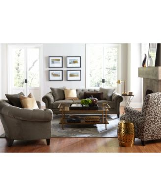 jazmin tufted sofa collection, only at macy's - furniture - macy's