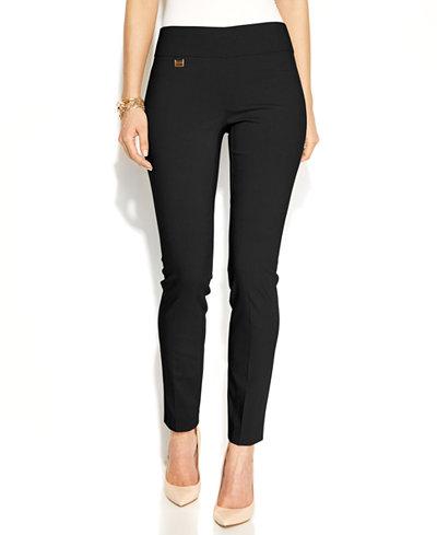 Alfani Tummy-Control Skinny Pants, Only at Macy's - Pants - Women ...