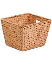 Honey-Can-Do Tall Square Water Hyacinth Basket