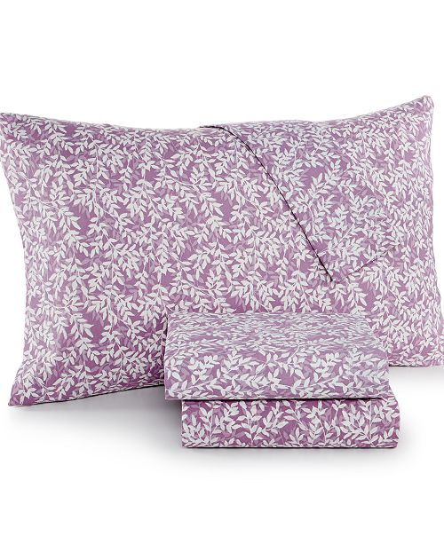 Jessica Sanders CLOSEOUT! Printed Twin 3-Pc Sheet Set, 220 Thread Count, Created for Macy's