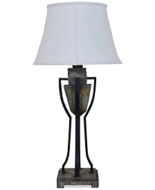 Crestview Monarch Slate & Metal Table Lamp