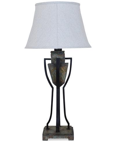 Crestview Monarch Slate & Metal Table Lamp
