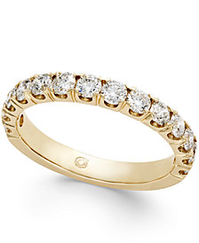 Pavé Diamond Band Ring (1 ct. t.w.) in 14k Gold, Rose Gold or White Gold