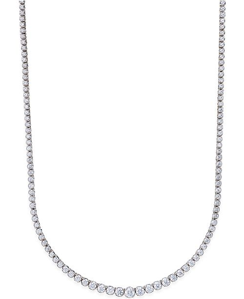 Macy's Certified Diamond Riviera Necklace (5 ct. t.w.) in 14k White Gold