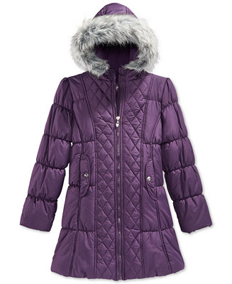 Hawke Amp Co Little Girls Or Toddler Girls Quilted Puffer