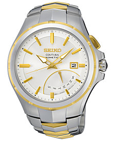 Seiko Men's Automatic Coutura Kinetic Retrograde Two-Tone Stainless Steel Bracelet Watch 43mm SRN064