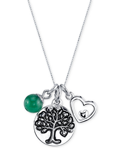 unwritten jewelry unwritten family tree charm pendant necklace in stainless 5137