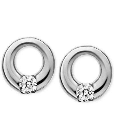 Skagen Elin Silver-Tone Circle Stud Earrings