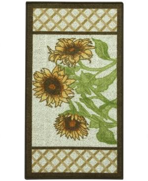 Bacova Kitchen Sunflower Frame 22x40 Rug Bedding