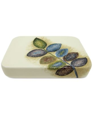 Bath Mosaic Leaves Soap Dish