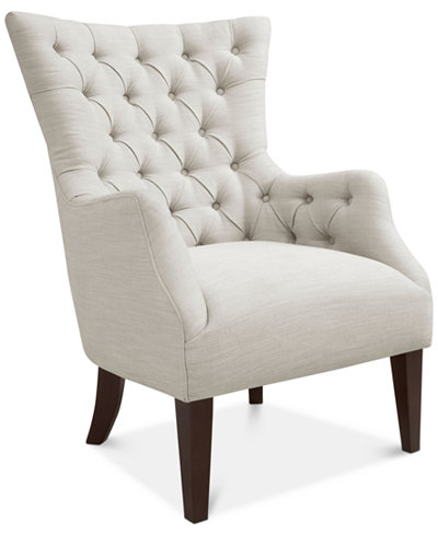 Adelyn Button Tufted Wing Back Chair Quick Ship