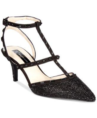 kitten heel black evening shoes