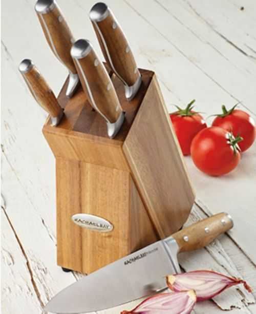 Rachael Ray Cucina 6-Pc. Japanese Stainless Steel Knife Block Set