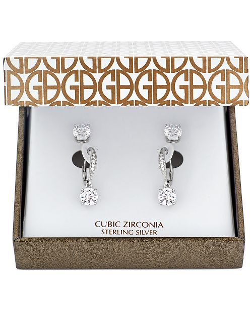 5f9e50b5c ... Giani Bernini 2-Pc. Cubic Zirconia Earring Set in Sterling Silver, 18K  Gold ...