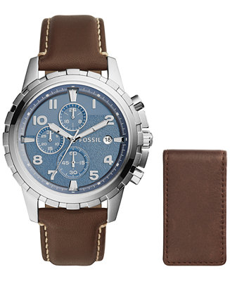 Fossil Men's Chronograph Dean Dark Brown Leather